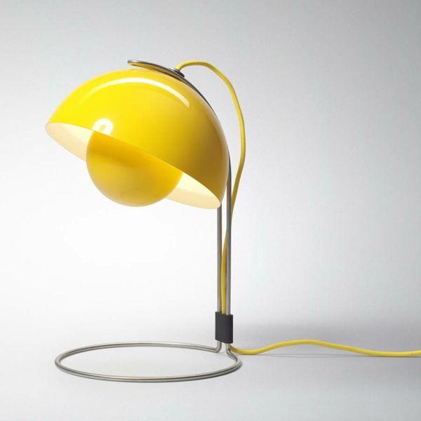 Simpel und wirkungsvoll-Tischleuchte gelb