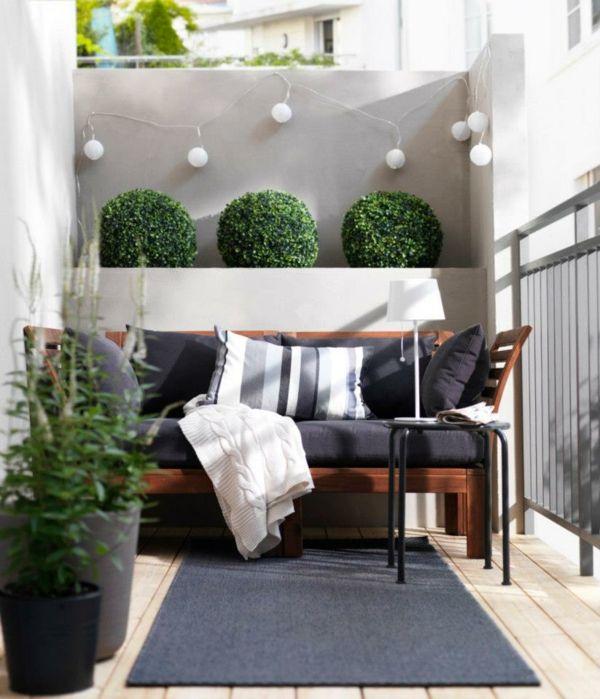 Sitzmöbel Outdoor-Kissen Teppich Balkonboden Holz