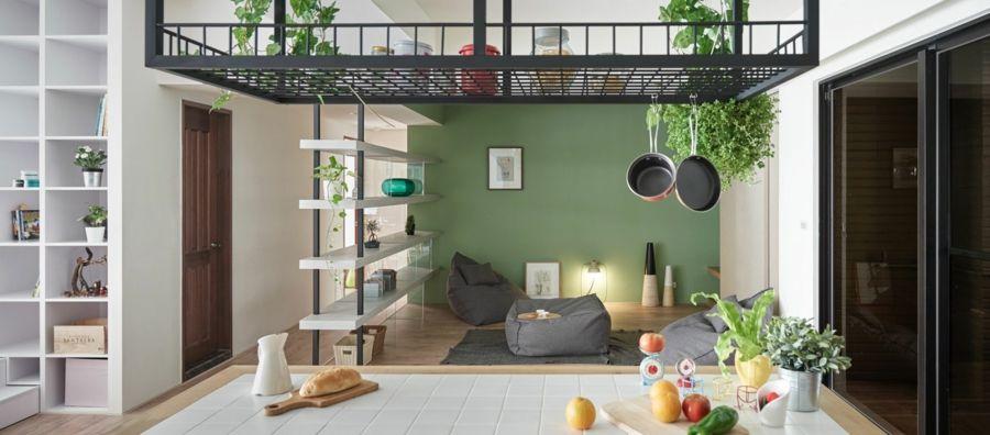 Sitzpuffs Wohnraum Schlichtheit Licht