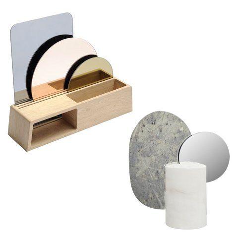 Skulpturale Spiegel Tischspiegel modern