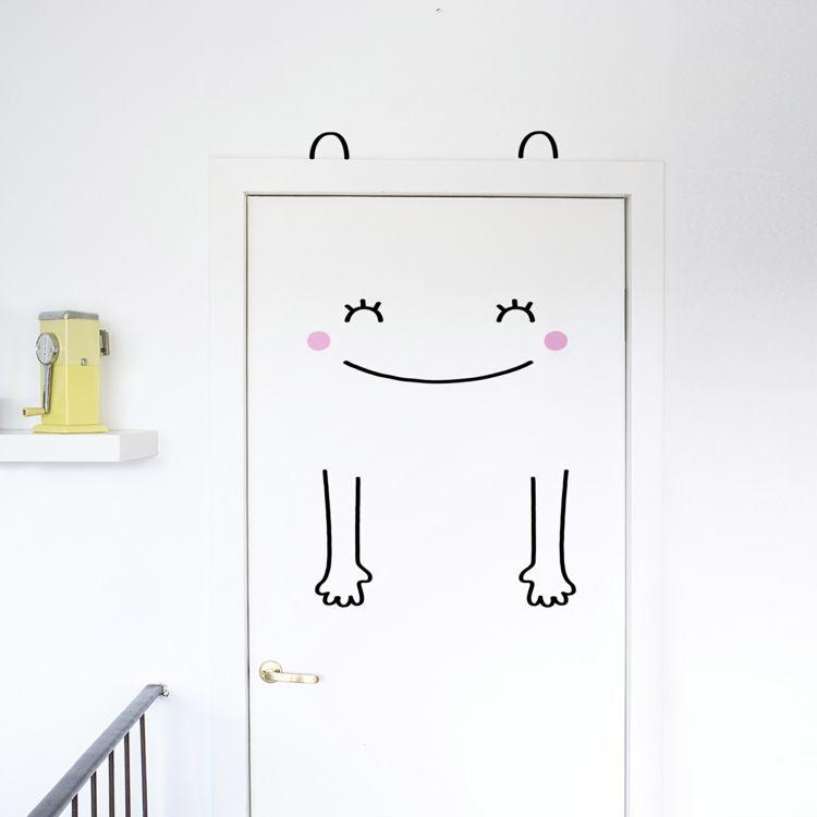 Smiley freundlich Kinderzimmer Türsticker