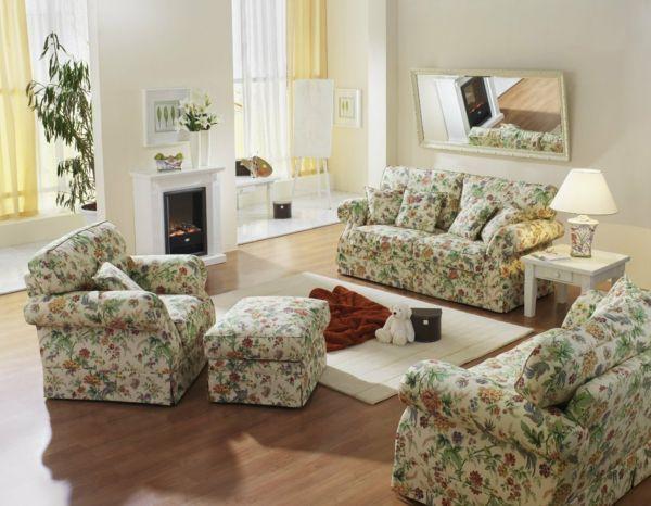 Sofa blumig-weiß