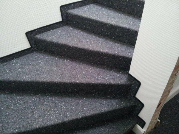 Teppichläufer Grau Filz robust-Treppe Teppich