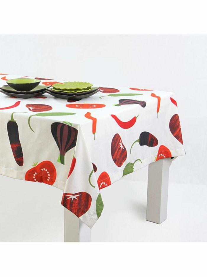 Tischdecke Motive Essen rot grün