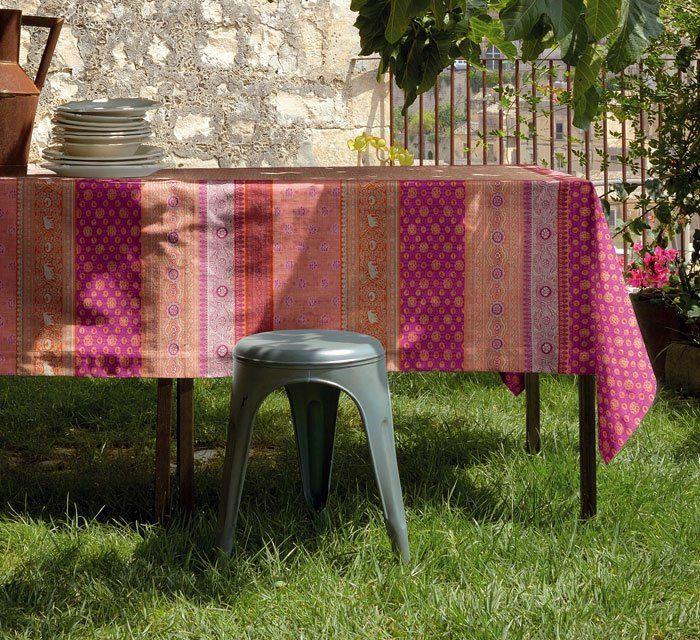 Tischdecke edel rosa rot kreativ