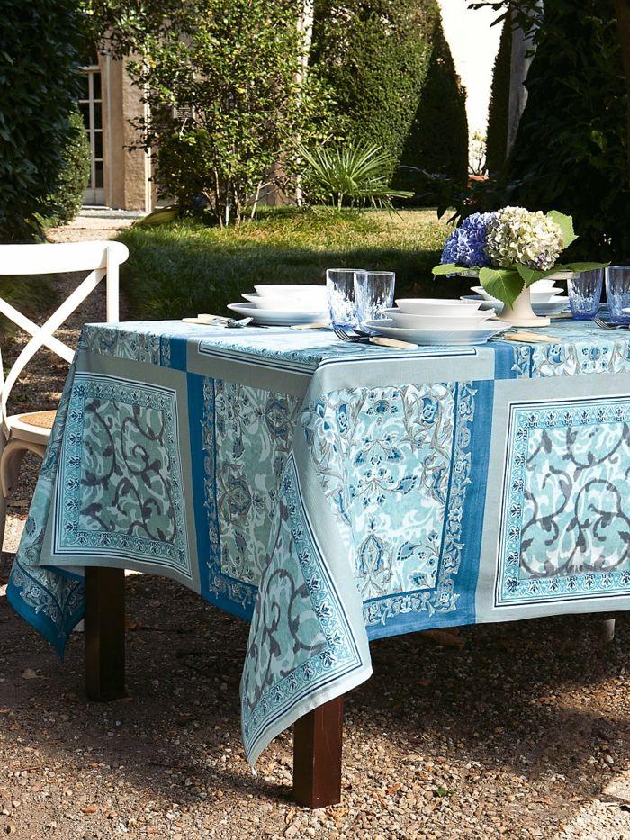 Tischdecke hochwertig geschwungen Aquarell