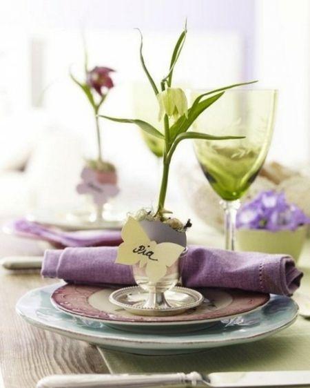 Tischdeko Lila Pflanzen