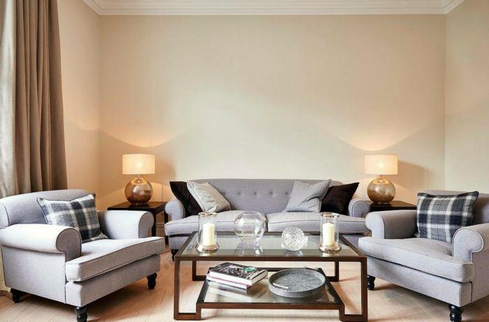 Tischlampen sorgen für wohnliches Akzentlicht-richtige Beleuchtung Wohnzimmer Tischleuchten