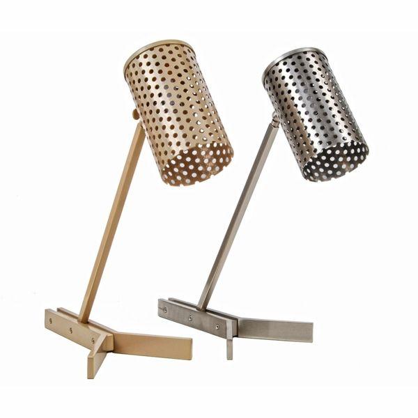 Tischleuchte im industriellen Stil-Stehleuchte Stahl Nickel