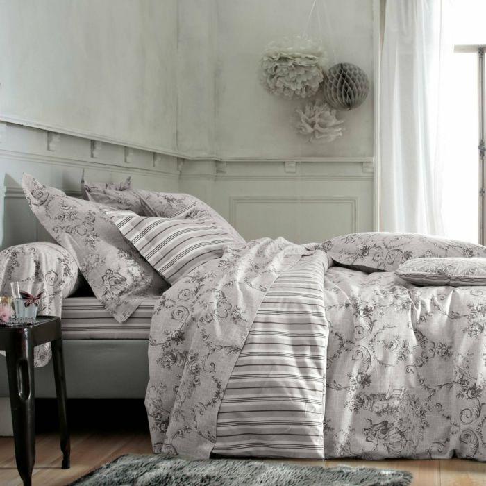 Toile-de-Jouy Muster für die Bettwäsche-ideen shabby chic