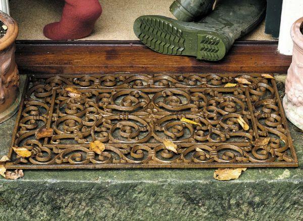 Traditionelle Fußmatte aus Gusseisen-Hauseingang Türmatten antik
