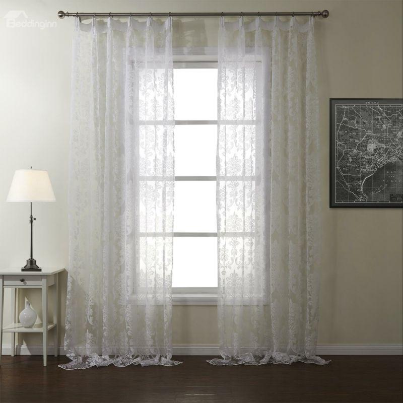 Transparente Gardinen fürs Wohnzimmer-Gardinen durchsichtig Polyester