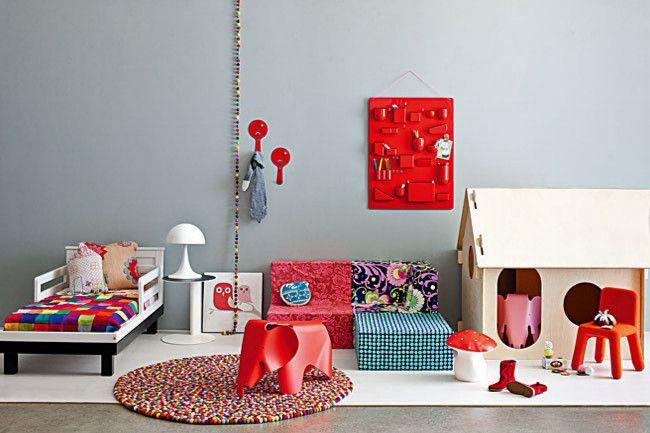 Trendige Möbelstücke und Accessoires-Farbgestaltung Kinderzimmer Einrichtungsideen