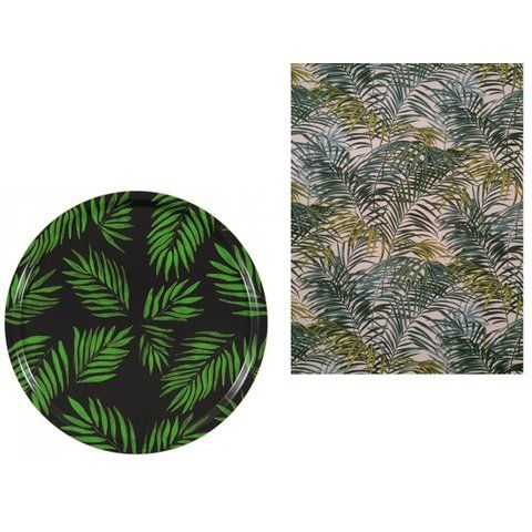 Tropische Motive Tablett Birkenholz