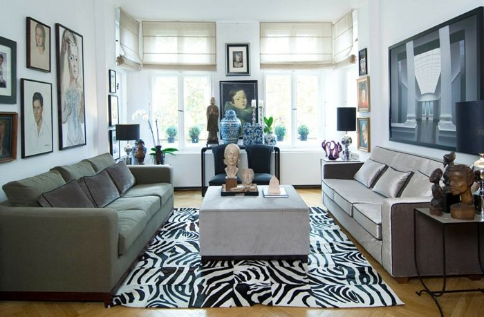Unterschiedliche Sofas Lassen Sich Auch Harmonisch Einrichten Kleines  Wohnzimmer Zwei Sofas Couchtisch Eklektsich
