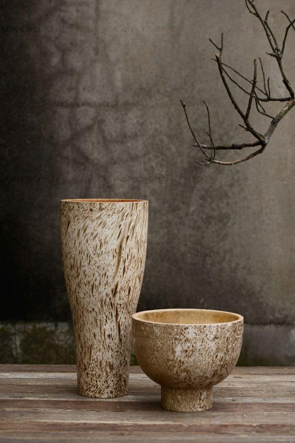 Vase und Schale aus Keramik-Wohnaccessoires