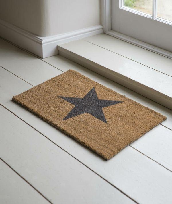 Verspieltes Design- Fußmatte mit Stern-Fußmatten Fußabstreifer