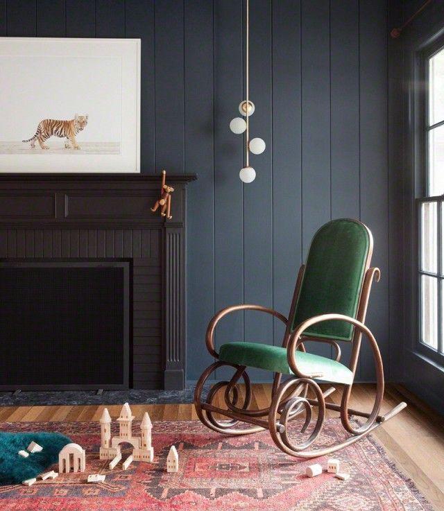 Vintage Schaukelstuhl im Kinderzimmer-Babyzimmer Möbel Gestaltung