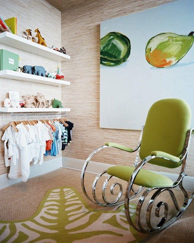 Wandregale statt Kleiderschrank-Ikea Wandregal weiß Schaukelstuhl