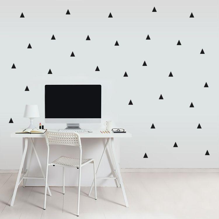 Wandsticker Büroraum geometrisch schwarz