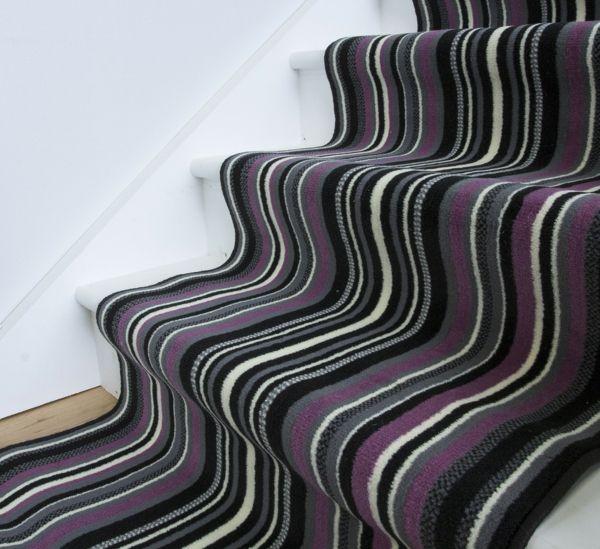Wellen Optik Teppichläufer Flur-Treppe Teppich