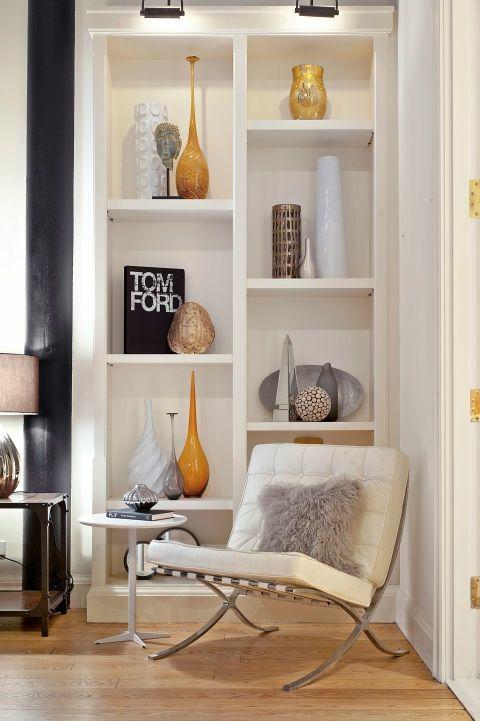 Weniger ist mehr-Leseecke Bücherregal minimalistisch