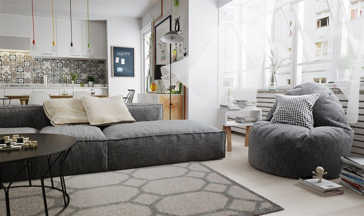 Wohnzimmer Polstersofa modern