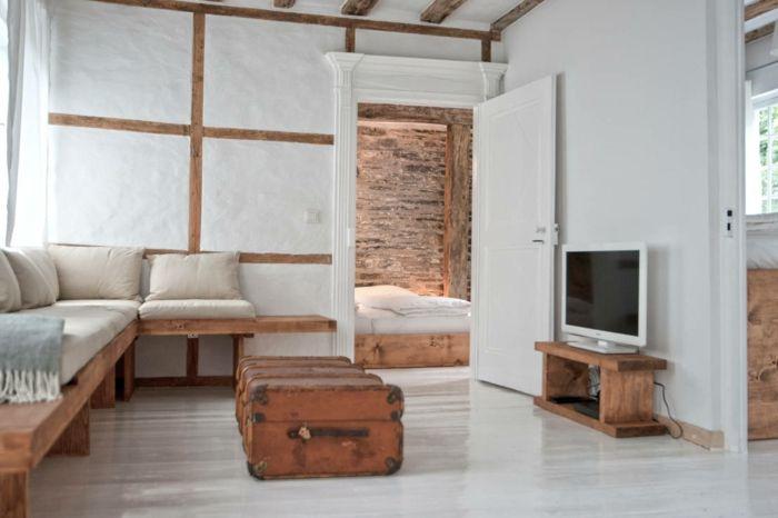 Fachwerk rustikal und doch modern - Como decorar un salon barato ...