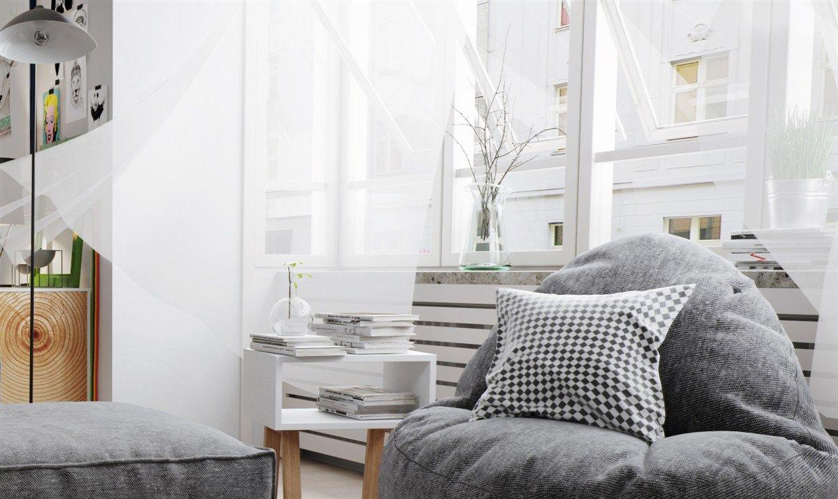 Wohnzimmer luftig gemütlich Weiß