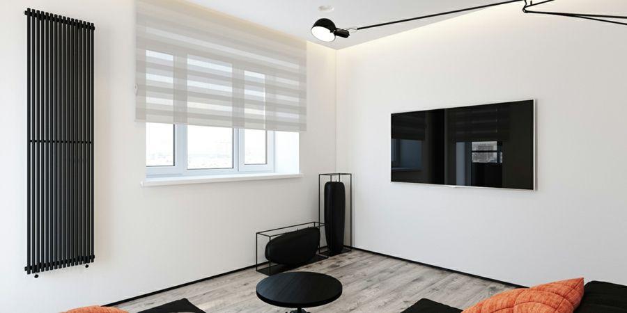 Wohnzimmer modern schlicht Schwarz Weiß