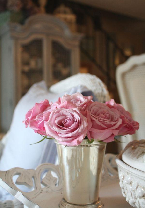 Wunderschönes Detail-Schnittblumen Rosen Arrangement