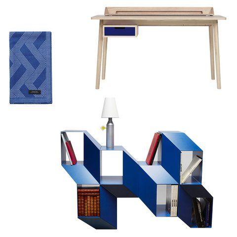 Yves Klein Blue dunkelblau Regal Handtuch