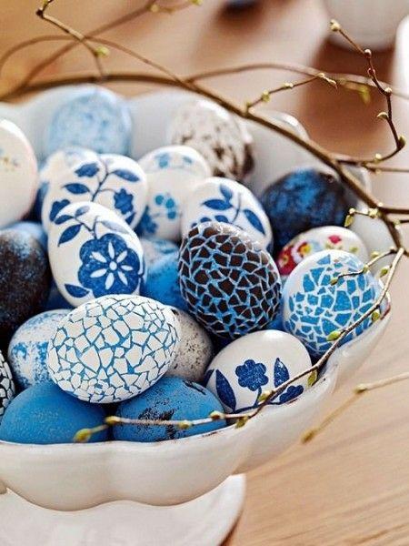 bemalte Eier Tischdeko Ideen Osterfest