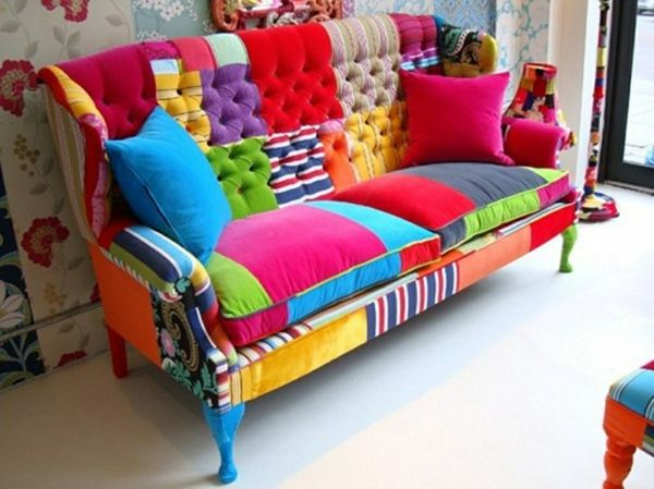 bunte Couch Patchwork