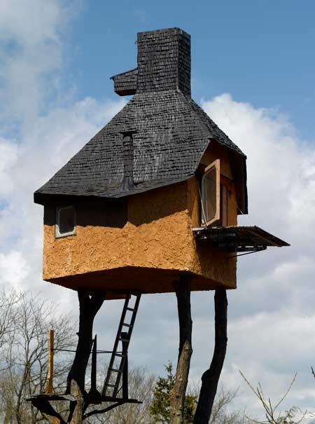 freistehende Leiter Baumhaus Architektur