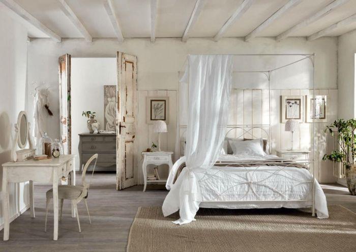 helles romantische Schlafzimmer-Idee zum Wohnen