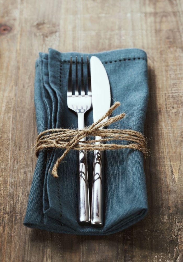 hochwertigen Servietten mutiges Blau klassisch Tischdeko