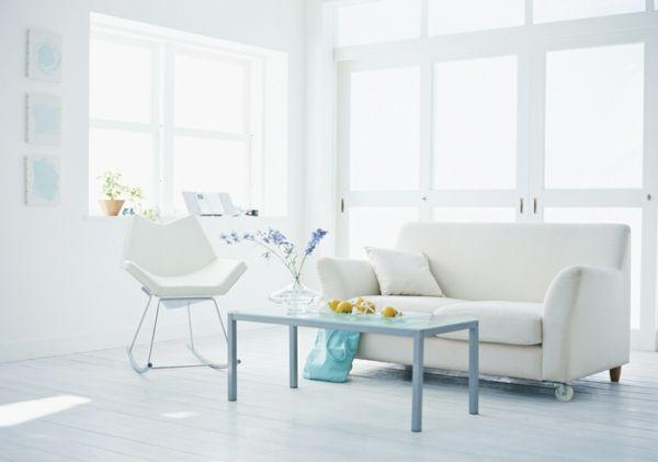 moderne-bodenbeläge-weiß-sessel-minimalistische-einrichtung-Bodenbelag weiss design