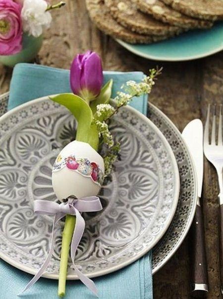 romantische Tischdeko zarte Farben