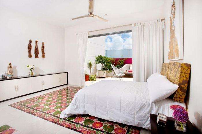 warme Farben für lebensfrohes Interieur im Schlafzimmer