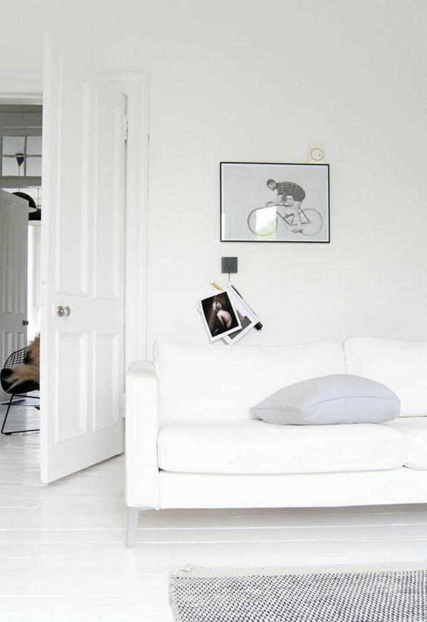 weiß Fußboden Holzdielen-Bodenbelag weiss design