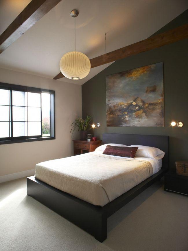 Abstrakt Leinwand Bild Erdtöne Schlafzimmer