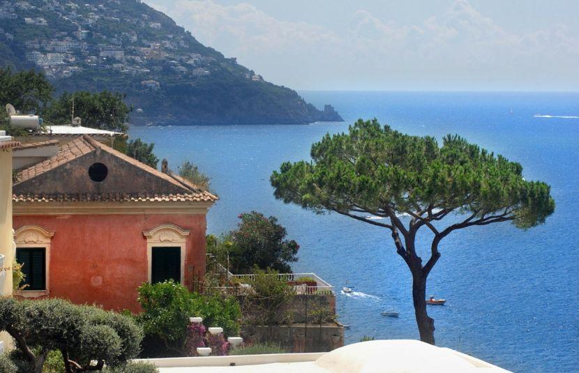Amalfiküste Landschaft Horizont italiensch Architektur