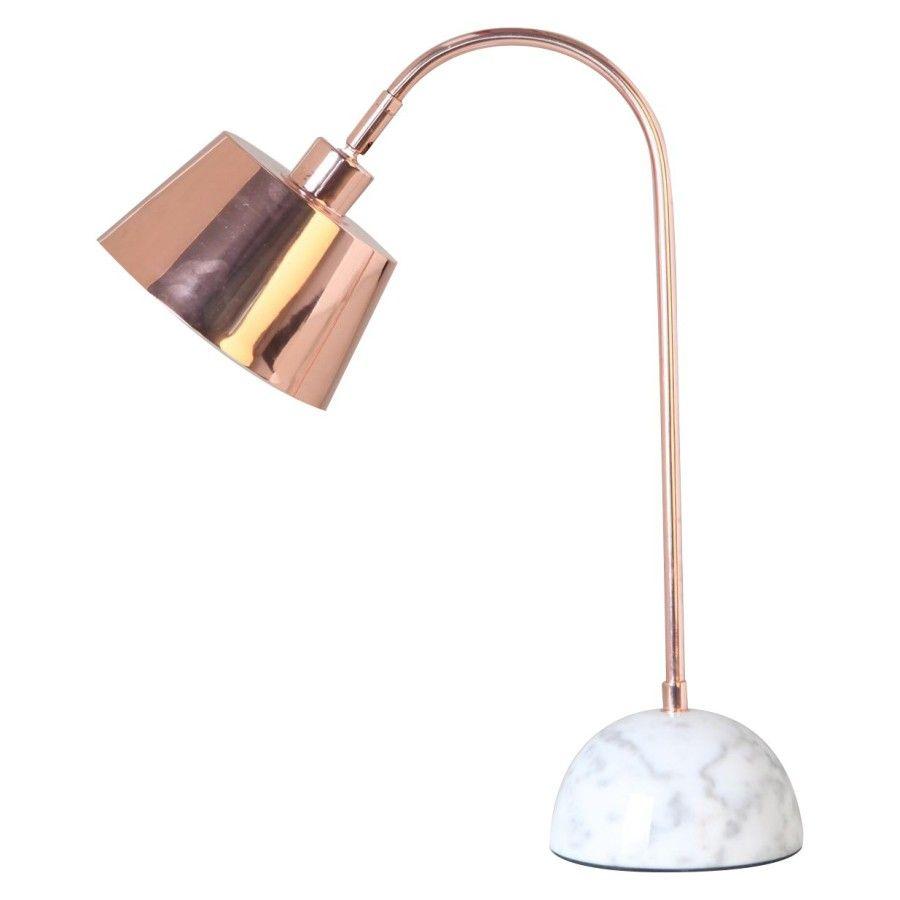 Arbeitstisch Lampe Kupfer Marmor