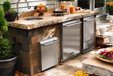 Kühlschrank Für Außenküche : Küchenkonzepte für den außenbereich trendomat