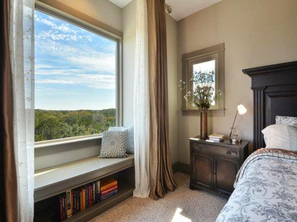 Aussichtsplattform Fensterflügel Fenstersitz große Glasfront