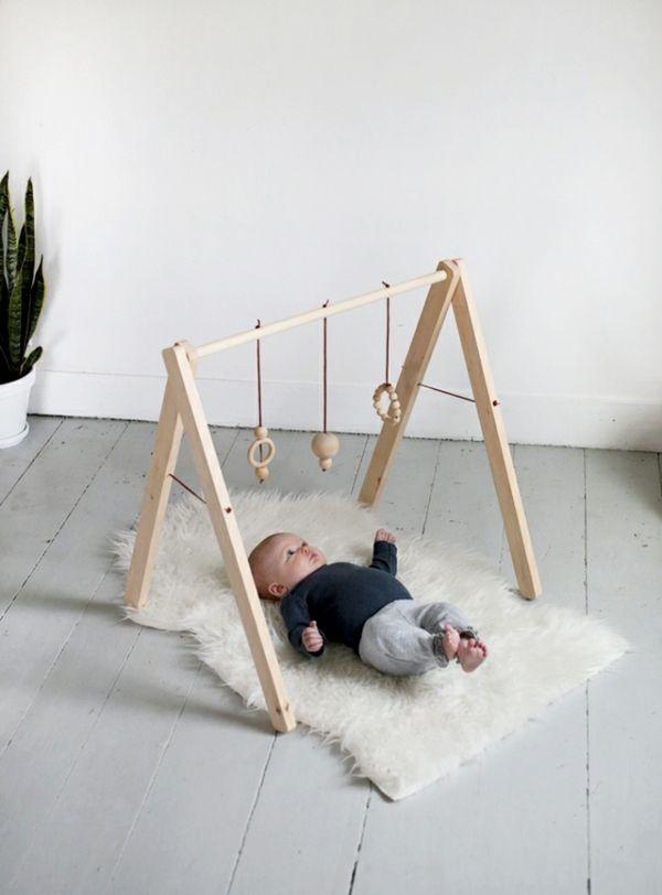 Baby Spielzeug Holz-Gym Spielringen