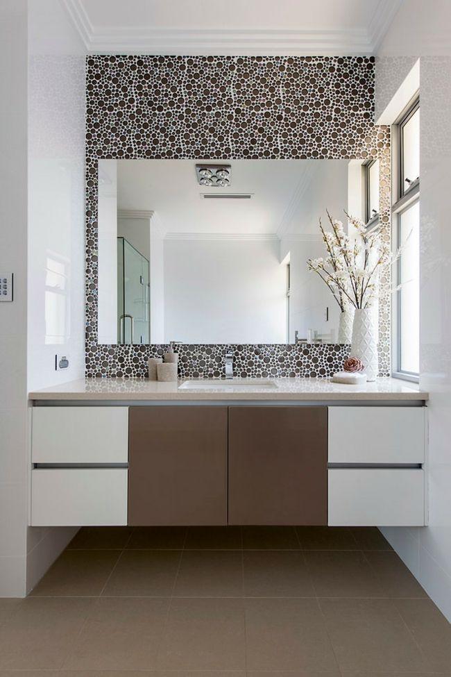 Bad Design Waschbecken Weiß Taupe