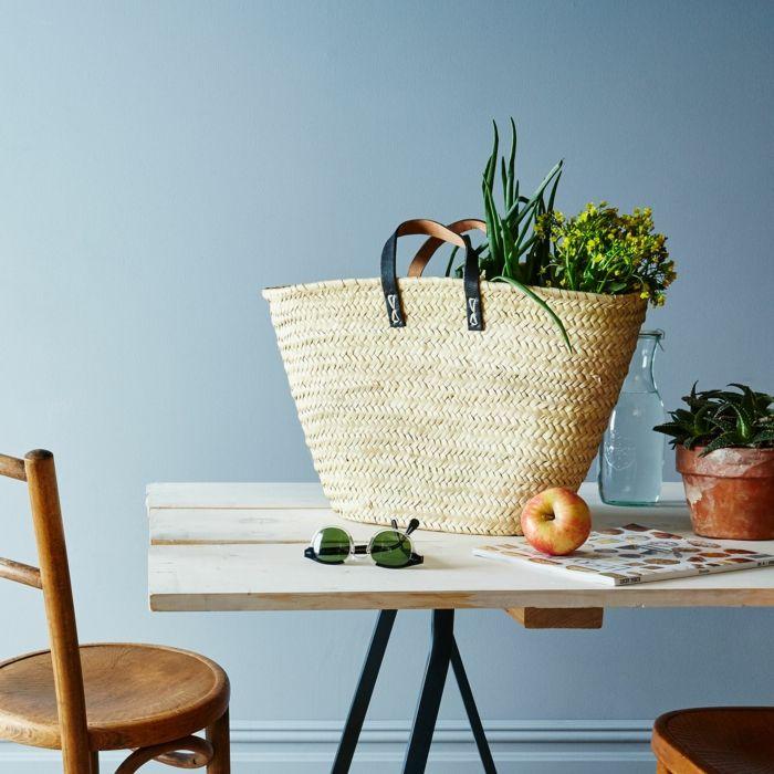 Beistelltisch Hilfstisch Küche Einkaufskorb