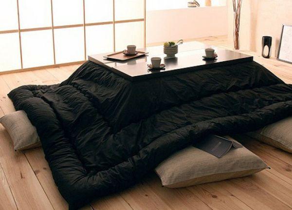 Bettdesign Wärmequelle japanisch Ausstattung